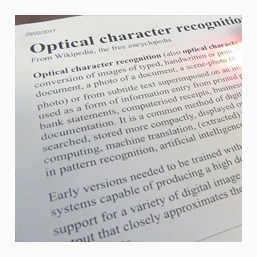 Optical Character Recognition OCR in Oxfordshire UK