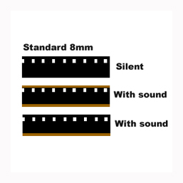 8mm standard cine film with sound