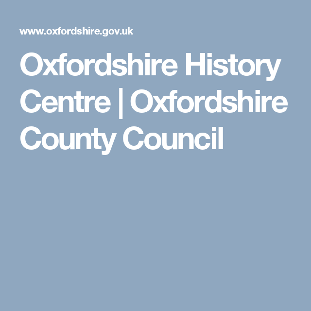 Oxfordshire History Centre